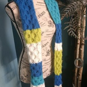 Lole frnge color block scarf.